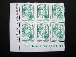 FRANCE 2015 NEUF** N° 5015 MARIANNE DE CIAPPA LETTRE VERTE VERT FEUILLE DATE 20.11.17 - Coins Datés
