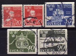 SCHWEDEN 1944 - MiNr: 306-310  Used - Schweden