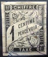 Colonies Françaises                TAXE 1                OBLITERE - Postage Due