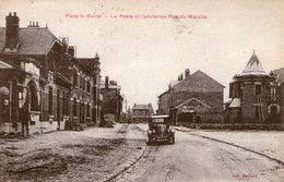 (67) CPA  Flavy Le Martel  La Poste  (Bon Etat  ) - Autres Communes