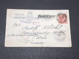 GRANDE BRETAGNE - Oblitération Maritime De Southampton Sur Carte Postale En 1907 Pour La France - L 17209 - Postmark Collection