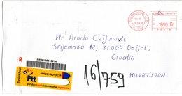 Letter - Red Postmark 26.4.2018., Caddebostan-Ist, Turkey, Registrated Letter - Turkey