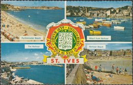 Multiview, St Ives, Cornwall, 1963 - Photographic Greeting Card Co Postcard - St.Ives
