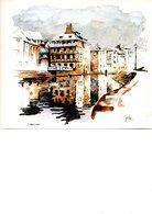 MAGNIFIQUE ALSACE EN 6 TABLEAUX  EDITES EN QUADRICHROMIE 240X180 PEINTS PAR GERARD MAETZ - Watercolours