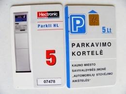 Chip Parking Plastic Card Carte Lithuania Kaunas City - Unclassified