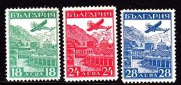 Bulgaria SG 323-325 1932 Air Post, Mint Hinged - 1909-45 Kingdom