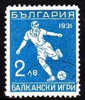 Bulgaria SG 327 1931 Balkan Olympic Games, 2l Blue, Mint Hinged - 1909-45 Kingdom