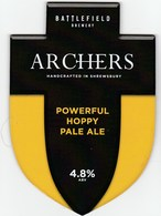 BATTLEFIED BREWERY (SHREWSBURY, ENGLAND) - ARCHERS HOPPY PALE ALE - PUMP CLIP FRONT - Signs