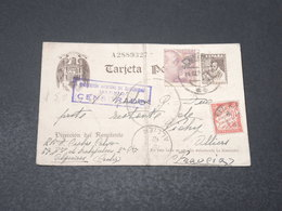 ESPAGNE - Entier Postal + Complément De Alquerías Pour La France En 1940 , Censure De Madrid - L 17218 - Marcas De Censura Nacional