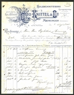 Rechnung Meyringen 1905, Holzschnitzerei Otto Knittel & Cie, Ornamente - Switzerland