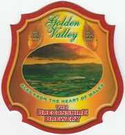 BRECONSHIRE BREWERY (BRECON, WALES) - GOLDEN VALLEY - PUMP CLIP FRONT - Signs