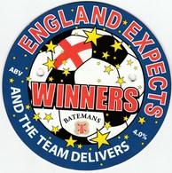 BATEMANS BREWERY (WAINFLEET, ENGLAND) - ENGLAND EXPECTS WINNERS - PUMP CLIP FRONT - Signs