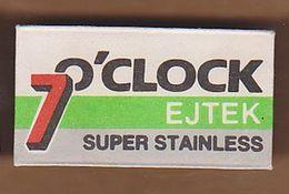 AC -  7 O'CLOCK  EJTEK SUPER STAINLESS SHAVING RAZOR BLADE IN WRAPPER - Razor Blades