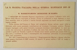 REGIA MARINA - IL RAGGRUPAMENTO ARTIGLIERIE DI MARINA  NV FP - Guerra 1914-18