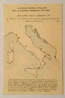 REGIA MARINA - SVILUPPO DELLE STAZIONI R.T.   NV FP - Guerra 1914-18