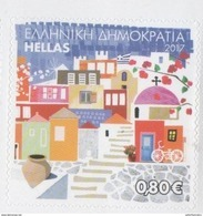 GREECE, 2017, MNH, PERSONALIZED STAMPS, ISLANDS, TOURISM, CHURCHES, BICYCLES, 1v Ex. BOOKLET OF 10 S/A VALUES - Holidays & Tourism