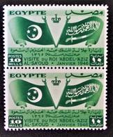 ROYAUME - VISITE DU ROI D'ARABIE SAOUDITE 1946 - PAIRE NEUVE ** - YT 237 - MI 283 - Egypt