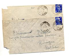 Lettre Cachet Le Grau Du Roi Sur Gandon - Postmark Collection (Covers)
