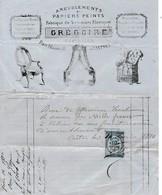 1880 - CASTRES - AMEUBLEMENT & PAPIERS PEINTS, Sommiers élastiques  - Maison GRÉGOIRE Tapissier - Documents Historiques