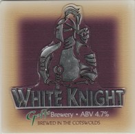 GOFF'S BREWERY (WINCHCOMBE, ENGLAND) - WHITE KNIGHT - THICK RAISED PUMP CLIP FRONT - Signs