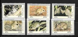 AUSTRALIE 1993 ANIMAUX MENACES D'EXTINCTION TIMBRES DE DISTRIBUTEUR  YVERT N°D18/23  NEUF MNH** - Nuovi