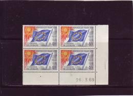 SERVICE N° 31 - 0,40F CONSEIL DE L'EUROPE - 26.03.1969 - - Dated Corners