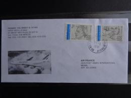 PREMIER VOL DIRECT B747/400 PARIS-SEOUL ET RETOUR - Postmark Collection (Covers)