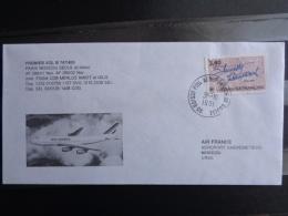 PREMIER VOL DIRECT B747/400 PARIS-MOSCOU-SEOUL ET RETOUR - Postmark Collection (Covers)