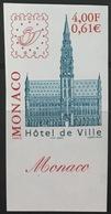 MONACO N° 2302 Hôtel De Ville De Bruxelles Non Dentelé Imperf, TB **, RARE Et Bdf ! - Neufs