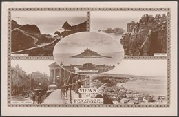 Multiview, Views Of Penzance, Cornwall, C.1920 - Kingsway RP Postcard - Other