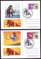 2004 Extinct Species - Woolly Mammoth, Prehistoric Animals Philatelic Postcards - Briefmarken