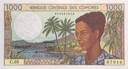 Comoros 1.000 Francs, P-11b 1994 UNC - Comoros
