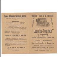 PETIT DEPLIANT  LOURDES TOURISTE - VOITURE Mors  - Service Automobile LOURDES à GAVARNIE - - Tourism Brochures