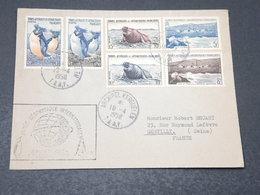 """T.A.A.F. - Enveloppe Avec Cachet De L 'Année De La Géophysique """" En 1958 Pour Gentilly , Bel Affranchissement - L 17233 - Terres Australes Et Antarctiques Françaises (TAAF)"""