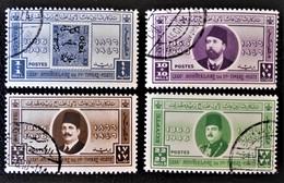 ROYAUME - 80 ANS DU PREMIER TIMBRE EGYPTIEN 1946 - OBLITERES - YT 238/41 - MI 284/87 - Egypt