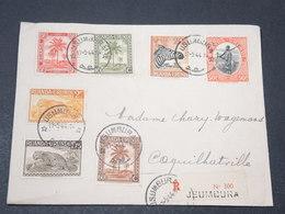 RUANDA URUNDI - Enveloppe En Recommandé De Usumbura Pour Coquilhatville En 1944 , Affranchissement Plaisant - L 17234 - Ruanda-Urundi