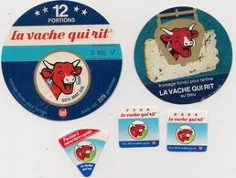 Etiquette De Fromage - Lot De 5 -   LA VACHE QUI RIT  (3 Petites) - Fromage
