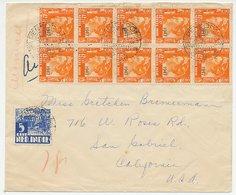 Em. Opdruk 1947 Pendopo - USA - Netherlands Indies