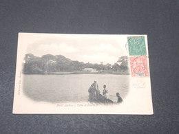 CÔTE D'IVOIRE - Affranchissement Mixte Côte D'Ivoire /Sénégambie Et Niger Sur Carte Postale En 1905 Pour Paris - L 17235 - Côte-d'Ivoire (1892-1944)