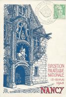 Fdc France, N°809  Yt, Exposition Philatélique Nationale Nancy 1948 - FDC
