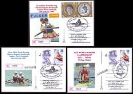 2005 World Rowing Championship Gifu Japan, Scotland Regatta Philatelic Postcards - Roeisport