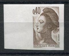 RC 8737 FRANCE 2183 - 40c BRUN FONCÉ LIBERTÉ DE GANDON NON DENTELÉ NEUF ** - France