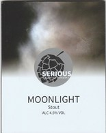 SERIOUS BREWING COMPANY (ROCHDALE, ENGLAND) - MOONLIGHT STOUT - PUMP CLIP FRONT - Signs