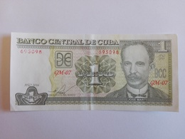 1 Peso Nacional (CUP) Banknote Aus Kuba Von 2016 (vorzüglich) - Cuba