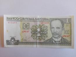 1 Peso Nacional (CUP) Banknote Aus Kuba Von 2016 (sehr Schön) - Cuba