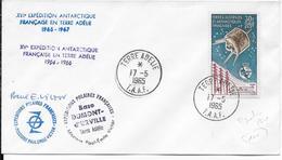TAAF - 1965 - POSTE AERIENNE YT N° 9 (COTE TIMBRE = 225 EUR) Sur ENVELOPPE De TERRE ADELIE - EXPEDITION POLAIRE - Terres Australes Et Antarctiques Françaises (TAAF)