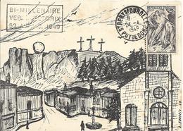 Fdc France, N°792  Yt, Bimillénaire De Vercingétorix, St Rémy Du Rolle, Vignette Au Dos - FDC