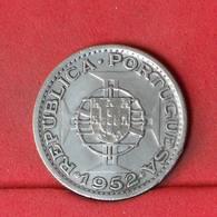 ANGOLA 10 ESCUDOS 1952 - 5 GRS - 0,720 SILVER   KM# 73 - (Nº22642) - Portugal