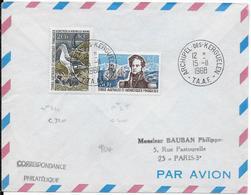 TAAF - 1968 - RARES YT N° 24/25 ALBATROS (COTE TIMBRES = 420 EUR) Sur ENVELOPPE De KERGUELEN - POLAIRE - Terres Australes Et Antarctiques Françaises (TAAF)