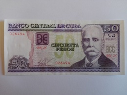50 Pesos Nacional (CUP) Banknote Aus Kuba Von 2015 (fast Kassenfrisch) - Kuba